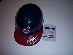 Herb Score Cleveland Indians,roy 55 Psa dna Signed Full Size Helmet - Autographed MLB... by Sports+Memorabilia