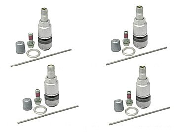 Mercedes (98-09) Wheel Valve Stem w/ TPMS x4 (with Tire Pessure Monitor) (Tires W211 compare prices)