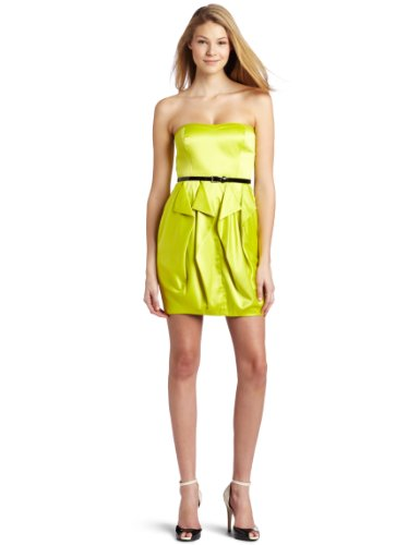 Jessica Simpson Womens Strapless Envelope Dress with Belt
