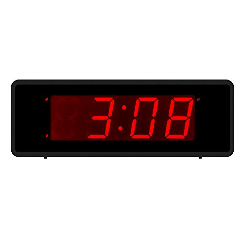 Kwanwa LED Digital Alarm Clock With Large 1.4'' Red LED Numbers Display And Battery Operated Only,Can Be Placed Anywhere Without A Cumbersome Cord (Version 2) (Led Numbers compare prices)