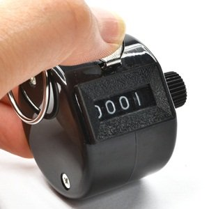 Bluecell Black Color Handheld Tally Counter 4 Digit Display for Lap/Sport/Coach/School/Event yellow case 5 digit lcd electronic finger counter hand tally