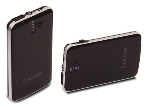 iFlash Ultra Slim 3200mAh Portable Power Bank Backup External Battery Charger with Embedded Micro-USB and Flashlight for Android Smartphones: HTC ONE M7 M8 M9 Samsung Galaxy S6 Plus/ S6 S5 S4/ S3/ S2/ Galaxy Note 2 / 3 / 4 / 5 Motorola MOTO X/G/ LG G2 / G3 / G4/ Sony Xperia Z/ PSP/ and OnePlus One/ Extra USB Port for Apple iPhone 6/6Plus/5S/5C/5/4S/4/ iPod Touch Nano (OEM CABLE REQUIRED for Apple) and Many More Mobile Devices - Black (Ultra Slim 0.4 Inch Profile)  available at amazon for Rs.2499