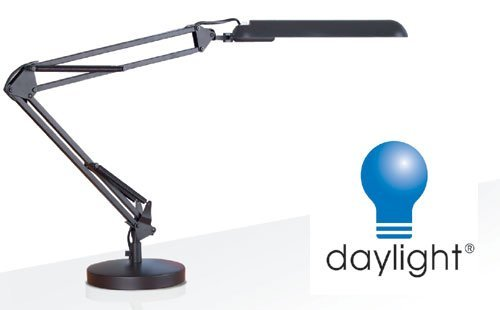 Daylight Black Desk Lamp D33041 with Energy Saving Daylight Tube