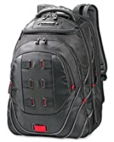 "Perfect Fit Backpack, Adjustable, 13""x9""x19"", Black/Red, Sold as 1 Each"