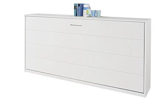 Matelpro-Armoire-lit contemporaine coloris blanc Alberto
