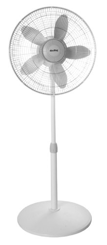 Air King 9119 18-Inch 3-Speed Commercial Grade Adjustable Oscillating Pedestal Fan, 1/20-Horsepower, White (Pedestal Fan Blade compare prices)