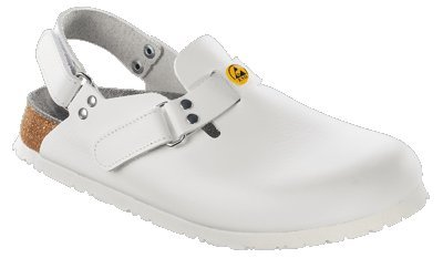 Alpro clogs C 100 ESD from Leather in White with a regular insole size 47.0 W EU