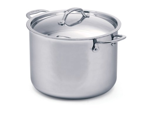 Cuisinox POT324H Elite 8.2-Quart Covered Stock Pot, Silver