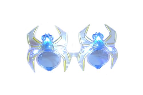 WeGlow International Spider Light Up Glasses Blue (2 Pieces)