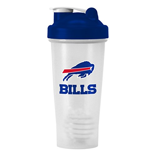 Nfl Buffalo Bills Shaker Bottle With Ball, 28-Ounce, Clear front-508715