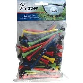 """INTECH Golf Tee 3 1/4"""" 75 Pack (Multi)"""