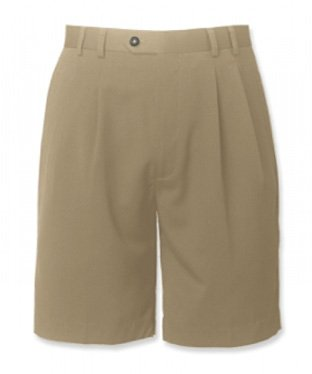 Microfiber Gabardine Cutter Buck Pleated Shorts