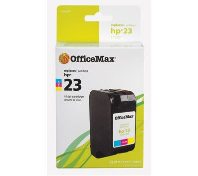 officemax-remanufactured-tri-color-ink-cartridge-replacement-for-hp-23-c1823d