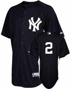 MLB New York Yankees Youth Derek Jeter 2 Cool Base Batting Practice Jersey, Navy... by Majestic