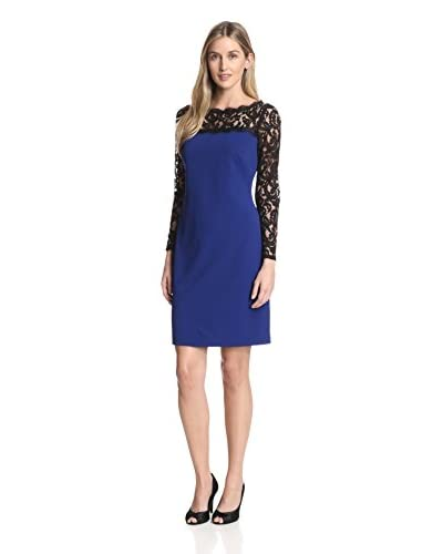 Adrianna Papell Women's Lace Top Shift Dress