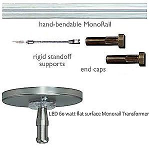 tech lighting led monorail kit track lighting rails. Black Bedroom Furniture Sets. Home Design Ideas