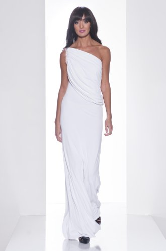 The Regan Swarovski Maxi Dress, White, Size S picture
