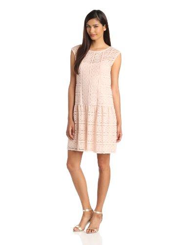 Ivy & Blu Maggy Boutique Women's Sleeveless Drop Waist Lace Dress, Light Pink, 16