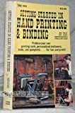 img - for Getting Started in Hand Printing and Binding by Van Waterford (1981-12-03) book / textbook / text book