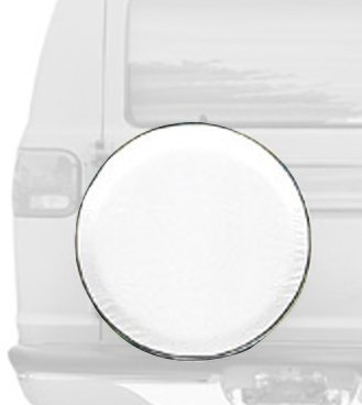 Classic Accessories 75100 Snow White Custom Fit Spare Tire Cover, Fits wheel diameter 21