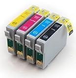 1 Full Set : 4 High Capacity Compatible Ink Cartridges Multipack T0445 - T0441 T0442 T0443 T0444 for Epson Stylus C64 C66 C84 C86 CX3600 CX3650 CX4600 CX6400 CX6600 Printers