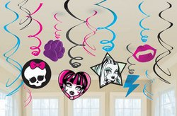 Mattel - Monster High Value Pack Hanging Swirl Decorations - 1