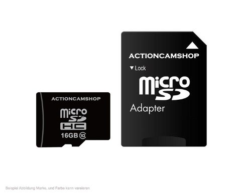 16GB micro SDHC Speicherkarte f&#252;r Actionpro SD21 PRO, GoPro Hero3, Drift HD Ghost, Contour+2