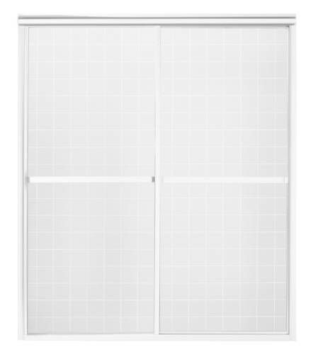 Sterling 5970-59S Deluxe By-Pass Bath Door, Silver with Pebbled Glass Texture (Kohler Tub Shower Doors compare prices)