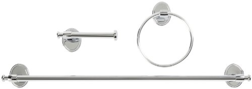 Taymor Calais Collection Bath Set, Chrome Finish, 3-Piece