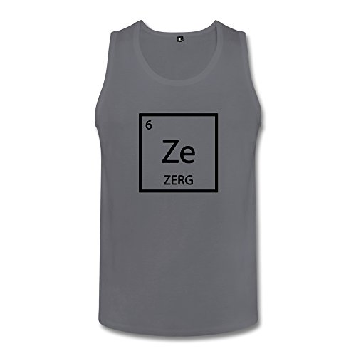 ZULA Men's Cute Starcraft 2 Legacy Of The Void Zerg Logo Vest Deep Heather Size XXL