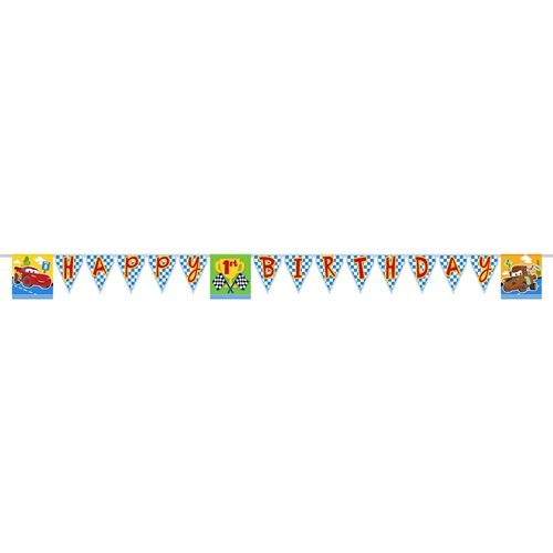 Disney/Pixar Cars 1st Birthday Champ Plastic Party Banner