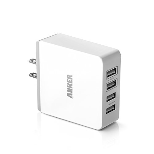 Anker® 36W 4-Port Usb Wall Charger Travel Power Adapter For Iphone 5S 5C 5; Ipad Air Mini; Galaxy S5 S4; Note 3 2; The New Htc One (M8); Nexus And More (White)