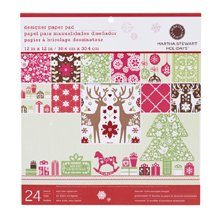 Martha Stewart Crafts Holiday Scandinavian Paper Pad, 24 Sheets