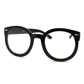 Thick Black Frame Prescription Glasses : Amazon.com: Black Oversized Round Thick Horn Rim Clear ...