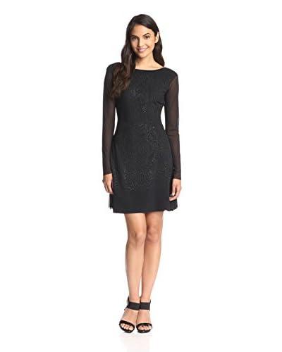 Lez a Lez Women's Bead Detail Fit & Flare Dress