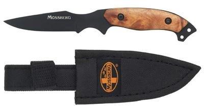 Mossberg Bantam Caping Fixed Blade Knife,2.5In Stainless Steel Non-Glare Black Blade,Burl Mobtk