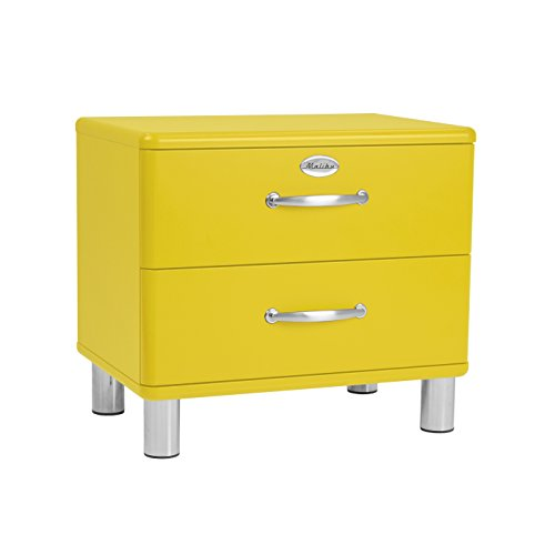 Tenzo 5212-002 Malibu Designer Nachtkommode, MDF lackiert, 54 x 60 x 41 cm, gelb