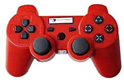 PS3 Wireless Dualshock Remote Controller Red Color Generic By Ae Zone