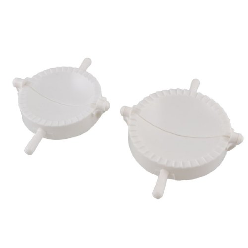 TOOGOO(R) 2 Pcs White Plastic Meat Pie Dumpling Dough Press Maker Mold (Meat Pies Molds compare prices)