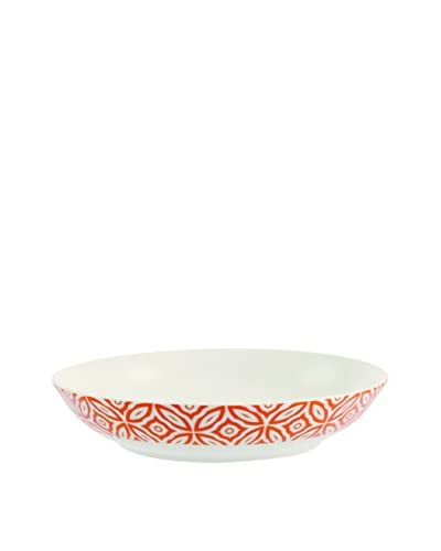 Villa d' Este Tivoli Huis Deep Dish set van 12 Ethno Chic oranje / wit