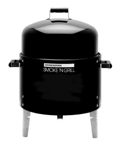 Brinkmann 810-2100-0 Smoke'N Grill Single Charcoal Smoker and Grill, Black
