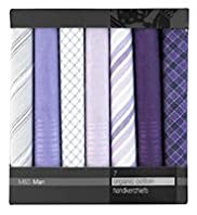 7 Pack - Pure Cotton Assorted Handkerchiefs
