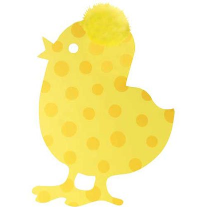 Easter Yellow Dotted Chick Cutout 15in - 1