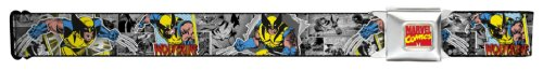 Marvel X-Men Seatbelt Belt - Wolverine Classic Comic Graphic Novel Blocks w/ Logo