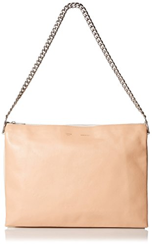 Cline-Womens-Leather-Shoulder-Bag-PeachWhiteYellow