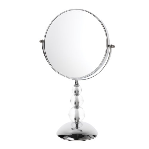 Danielle Satin Nickel Three Ball Deco Base Vanity x 10 Magnified