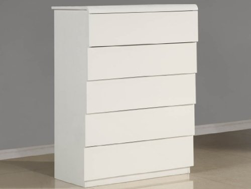 Whiteline Imports Nelly Chest Of Drawers in High Gloss White