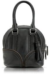 Pineider 1774 Black Micro Bowling Leather Bag
