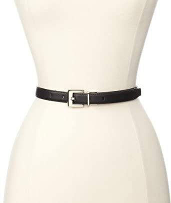 Calvin Klein Women's 3/4 Inch Engraved Logo Reversible Buckle Belt, Black, XX-Large