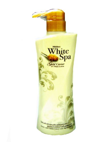 Mistine White Spa Gold Caviar Whitening Lotion Reduce Fine Lines & Wrinkles 400Ml